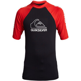 Quiksilver On Tour SS Shirt Boys, negro/rojo